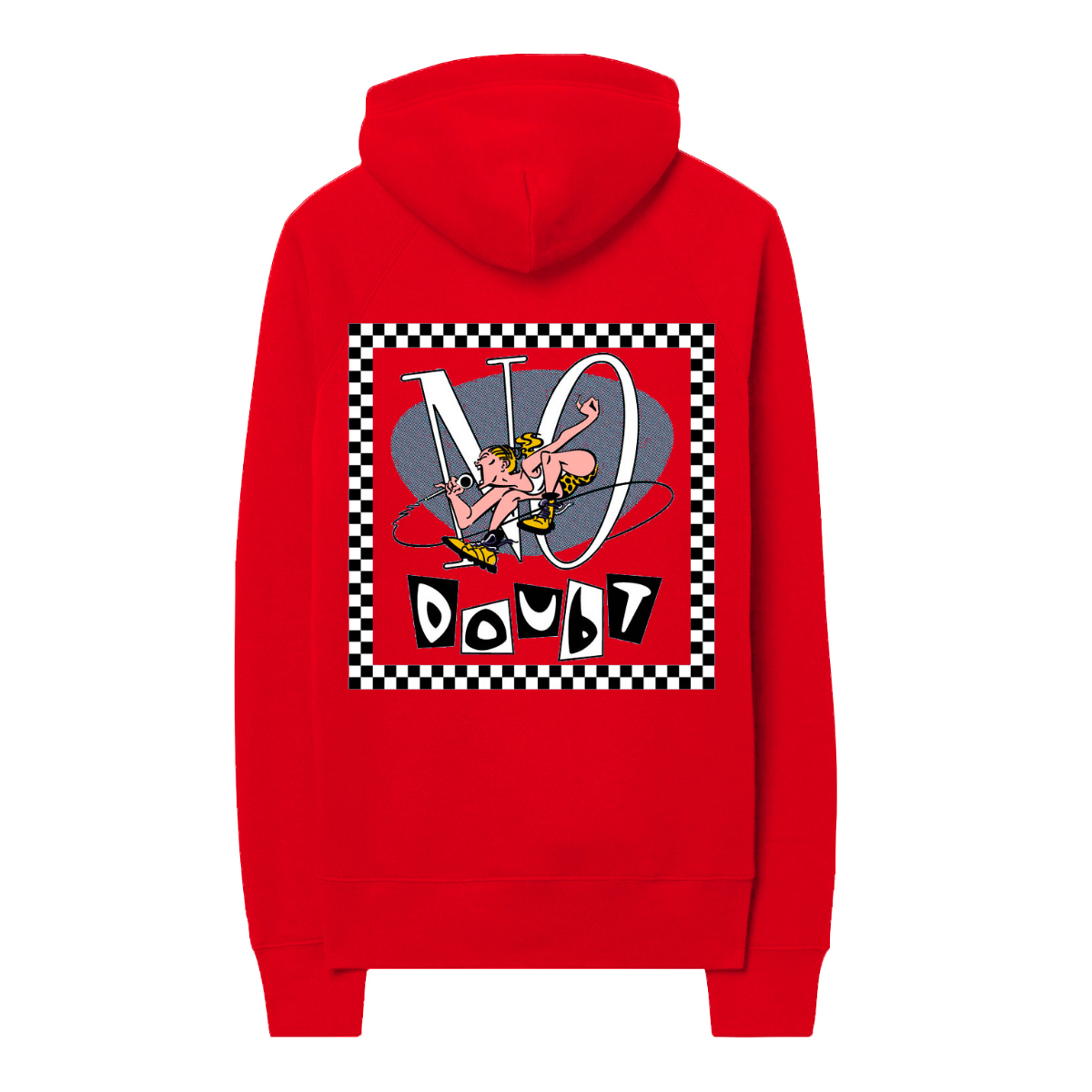 No Doubt Checkered Frame Red Hoodie