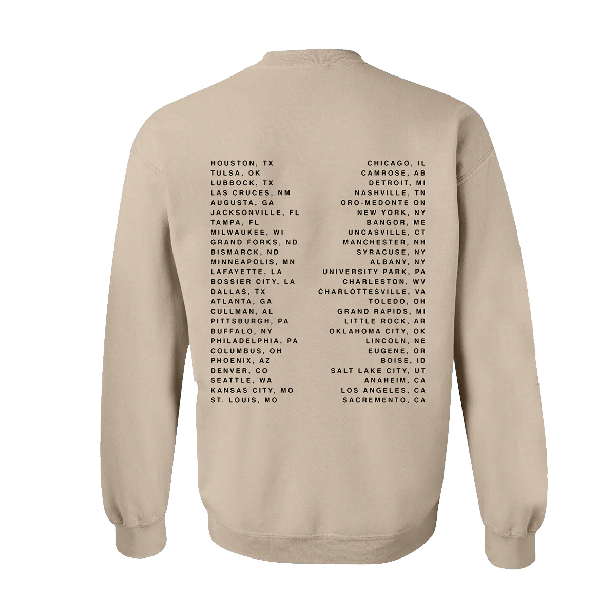 Life Changes Tour Dateback San Crewneck Sweatshirt