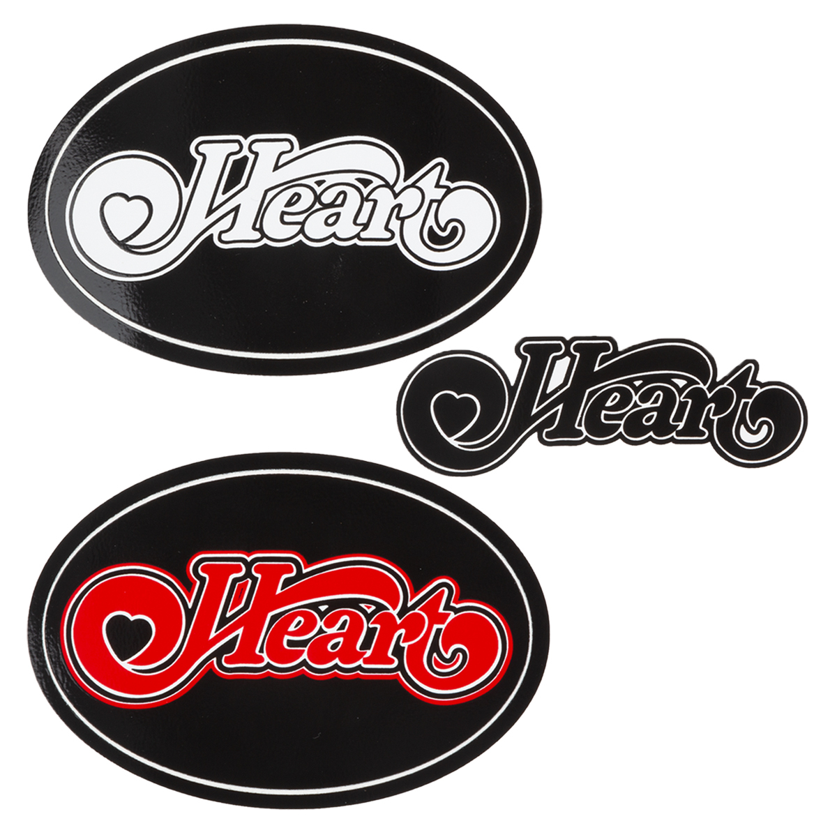 Set of 3 Heart Logo Stickers