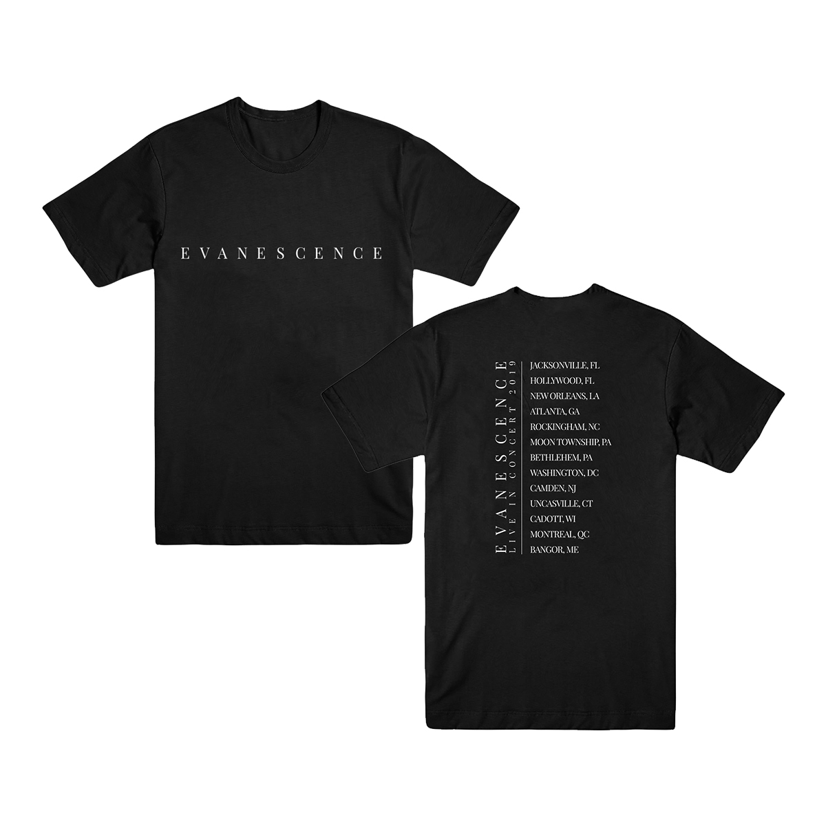 Evanescence Logo Dateback T-Shirt