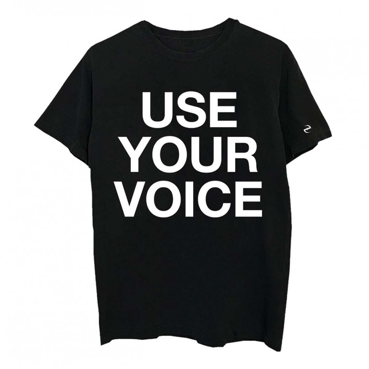 Use Your Voice Black T-shirt