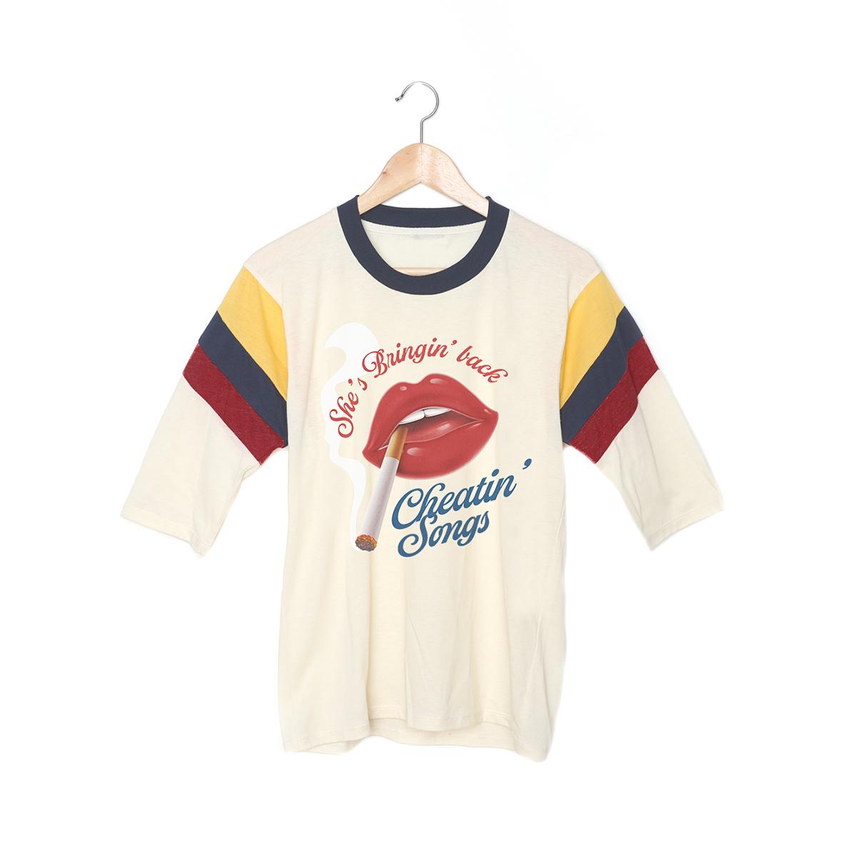 Cheatin' Songs 3/4 Sleeve T-Shirt