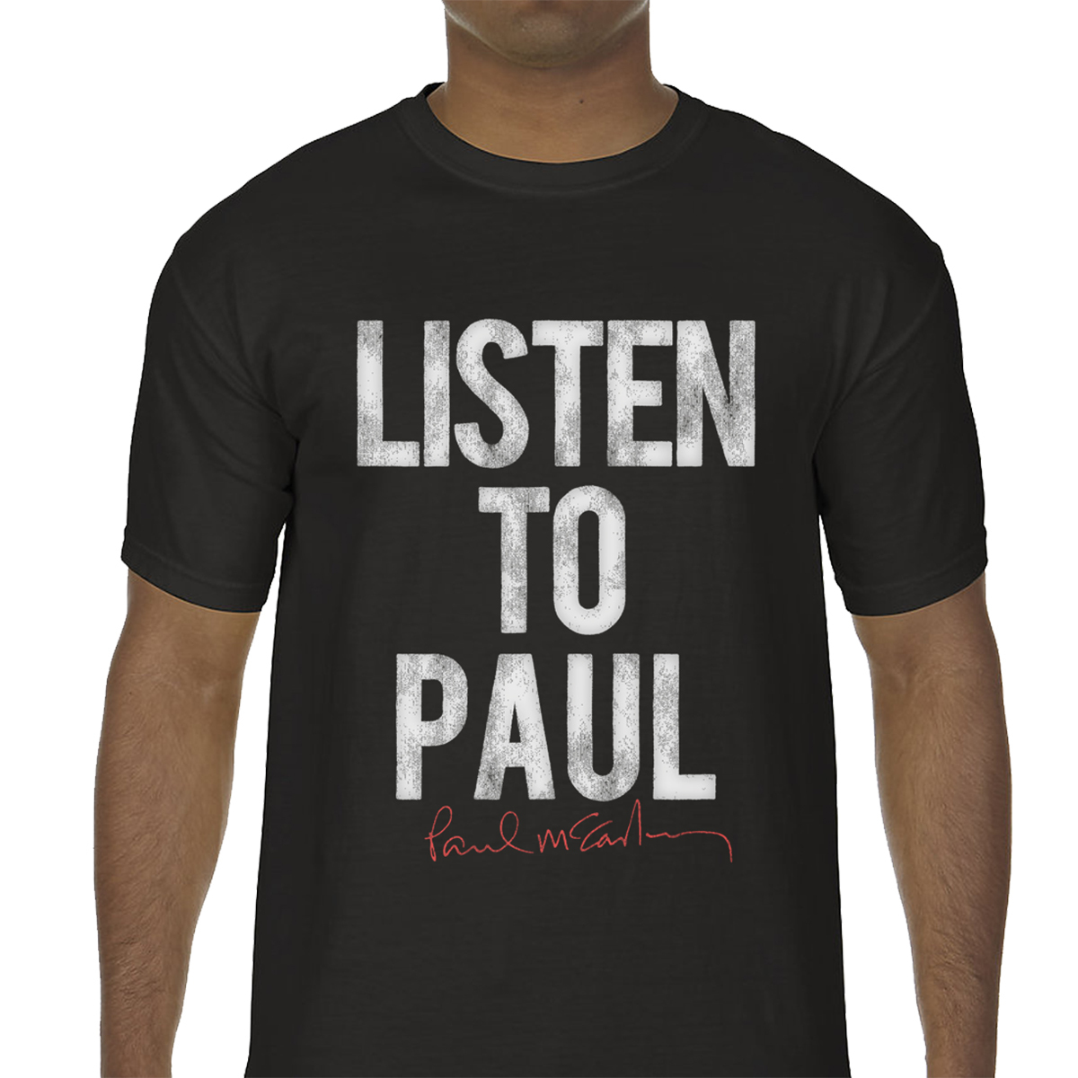 Listen Up Black T-Shirt