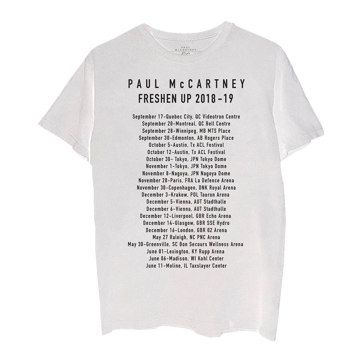 Freshen Up 2018-19 White Tour T-Shirt