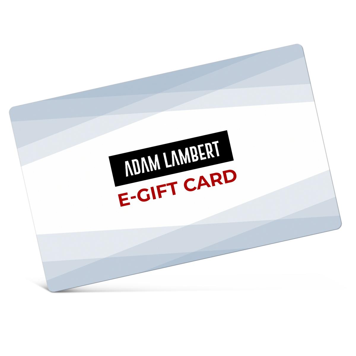 Adam Lambert eGift Card