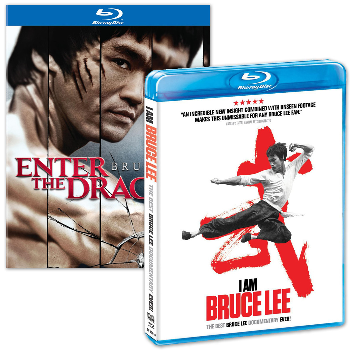 Bruce Lee Enter the Dragon 40th Anniversary BluRay and I Am Bruce Lee BluRay Combo Pack