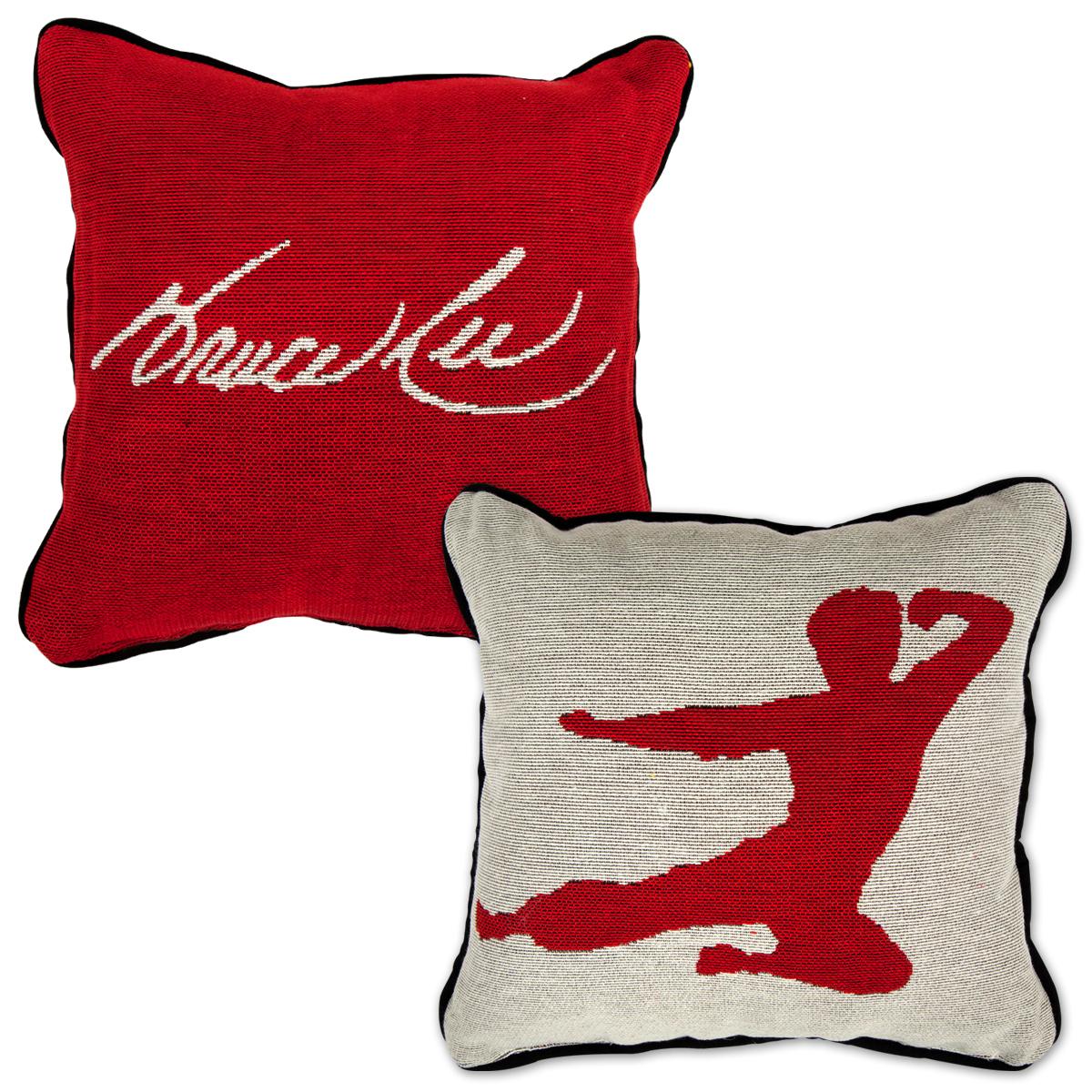 Bruce Lee Flying Man Tapestry Pillow