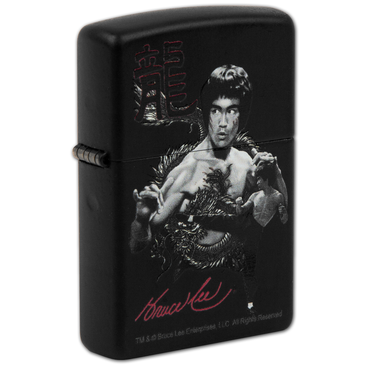 Bruce Lee The Dragon Matte Black Zippo