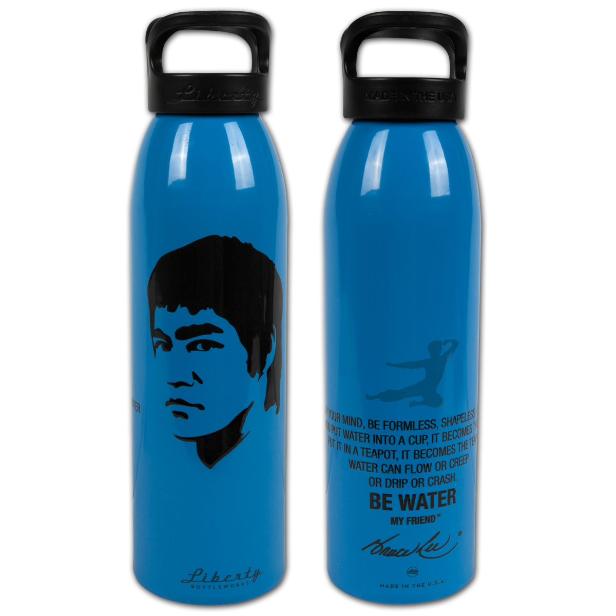 Bruce Lee 'Be Water' Blue Liberty Bottle