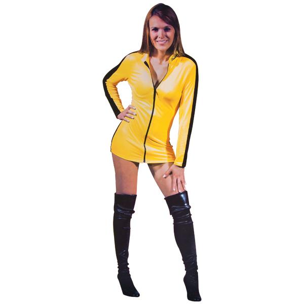 Bruce Lee Yellow Jumpsuit Ladies Dress
