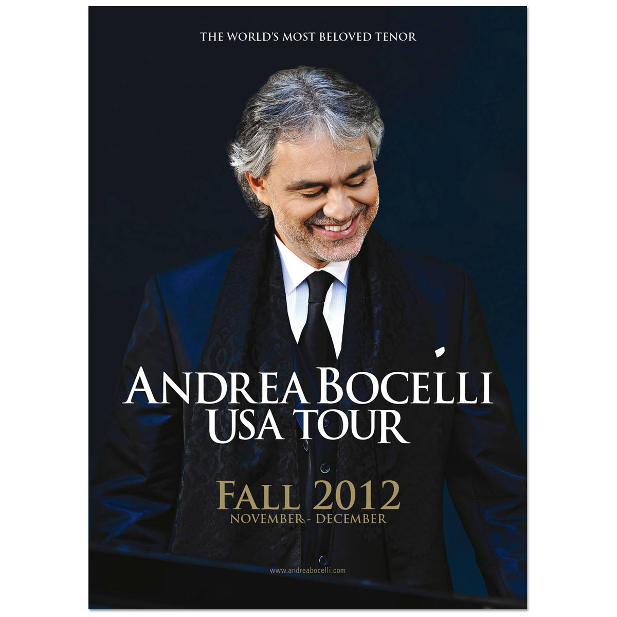 Andrea Bocelli Fall Tour 2012 Program