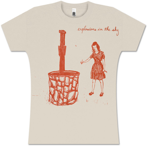 Explosions In The Sky Women's Cream Wishing Well T-Shirt