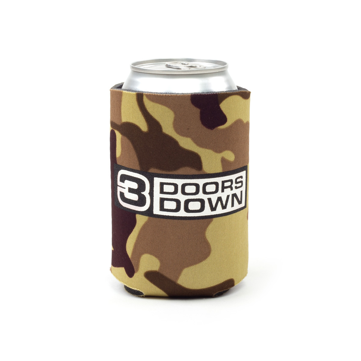 3 Doors Down Camo Koozie