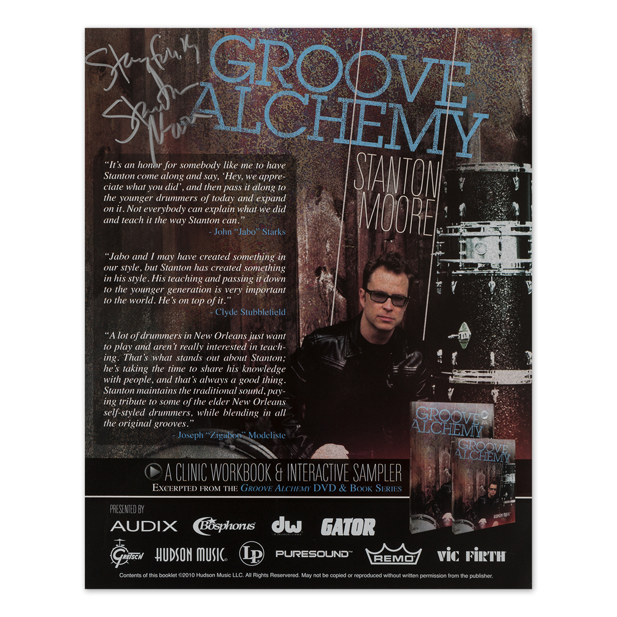 Signed 'Groove Alchemy' PASIC Handout
