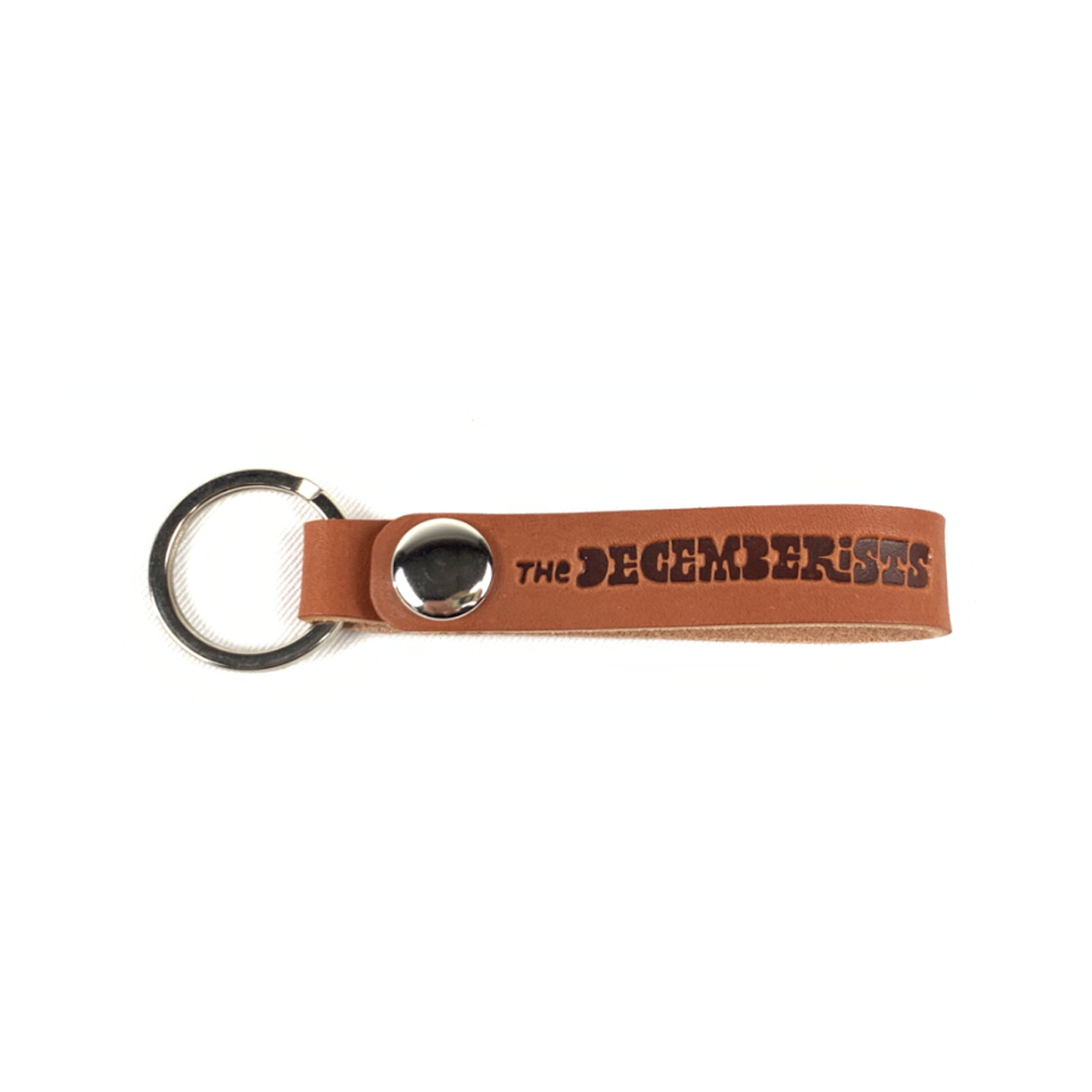 The Decemberists Leather Keychain