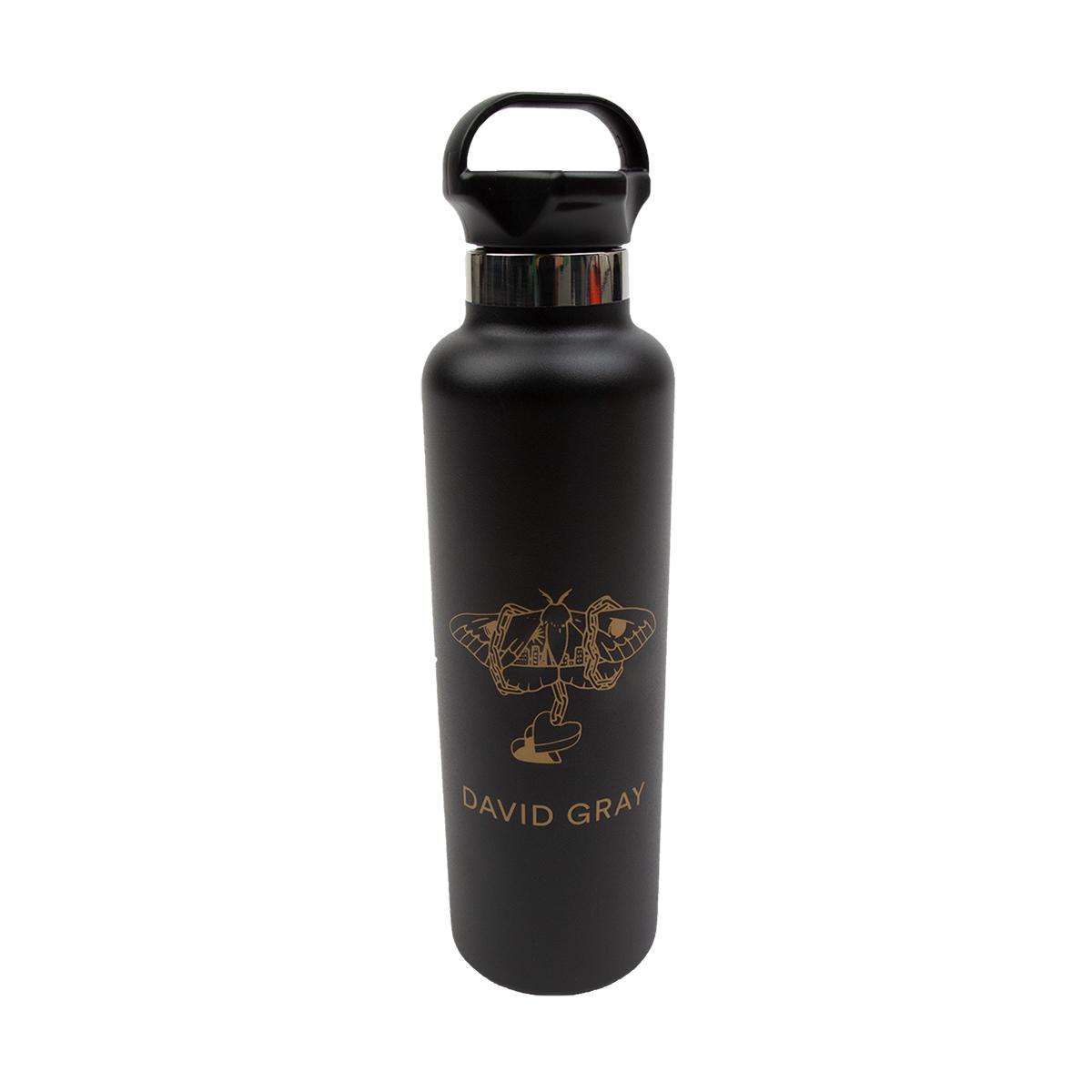 Black & Gold Moth Water Bottle
