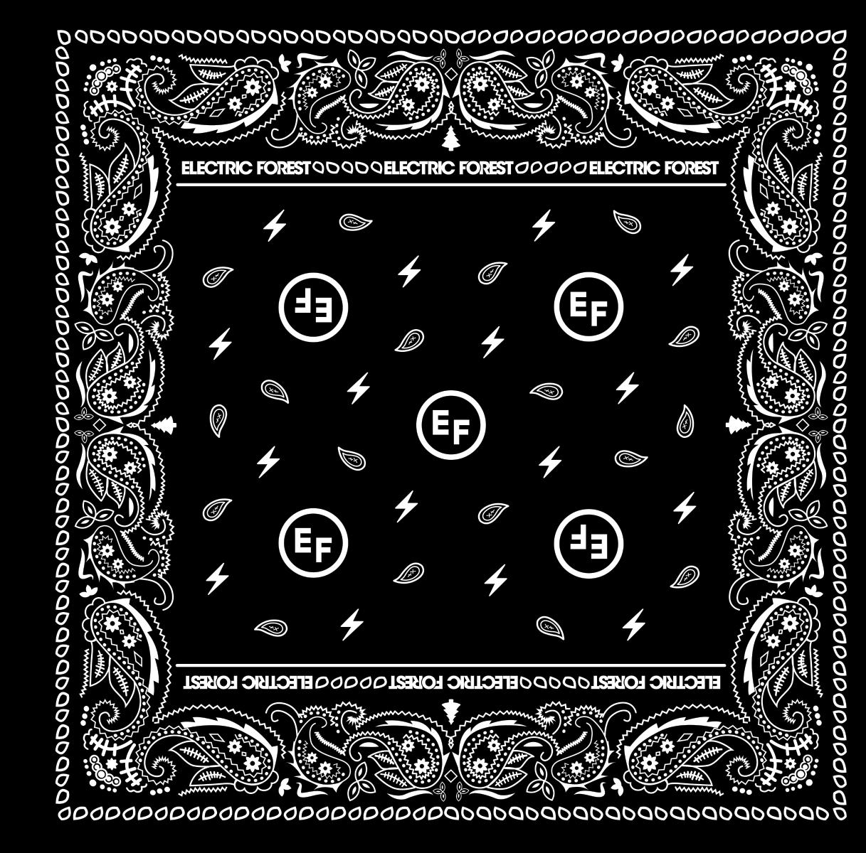 EF Black Paisley Bandana