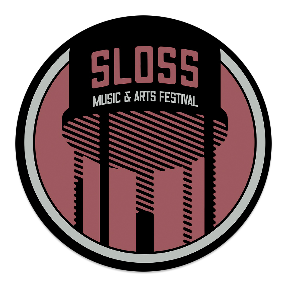 "Sloss Music & Arts Festival 2015 Red 4"" Vinyl Sticker"