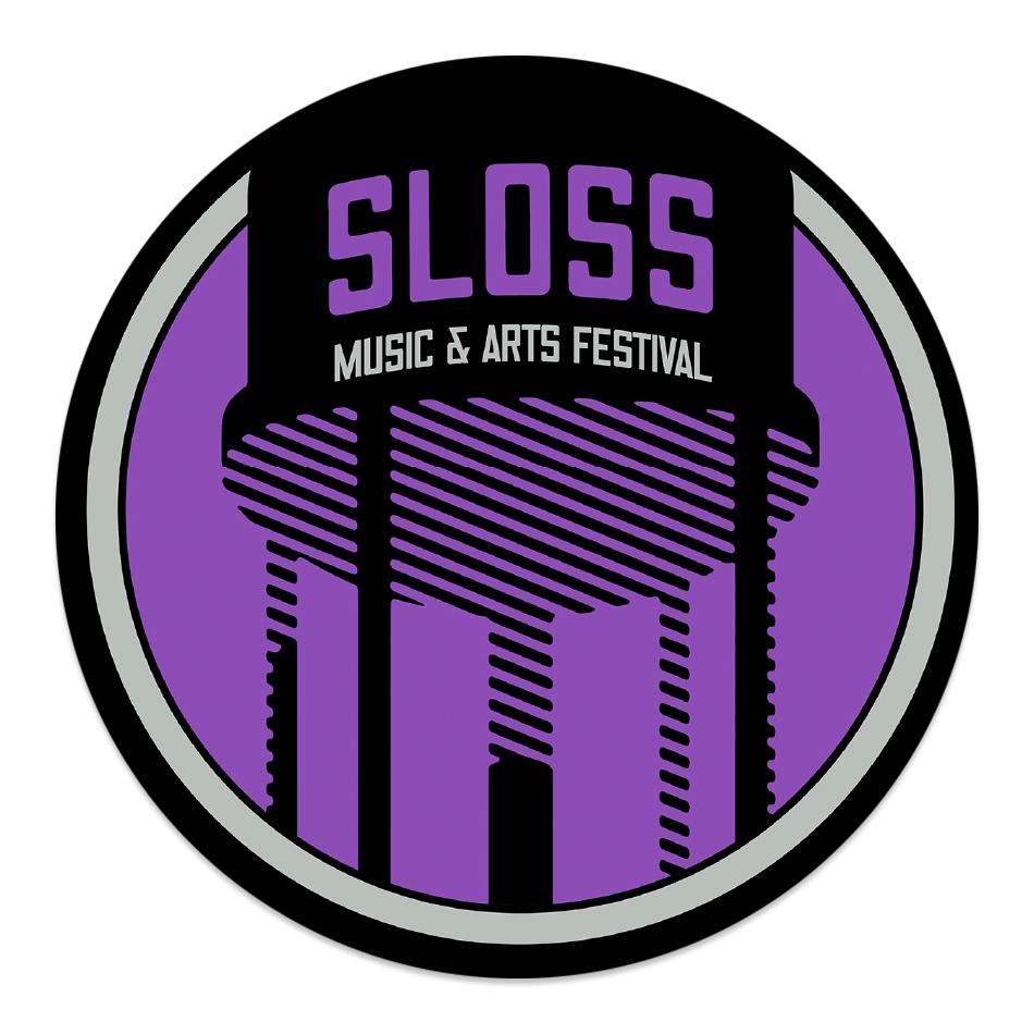 "Sloss Music & Arts Festival 2015 Purple 4"" Vinyl Sticker"