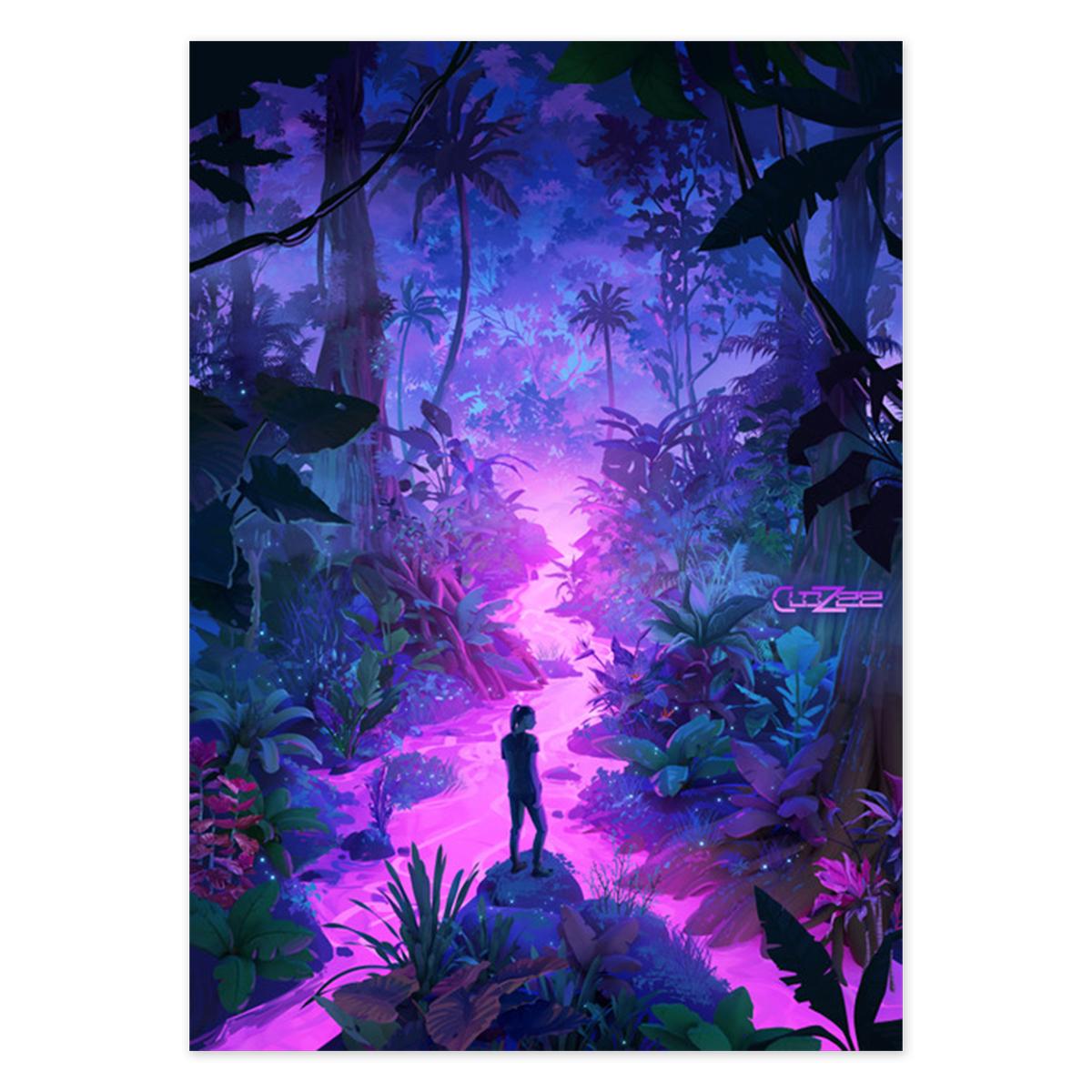 Neon Jungle Poster