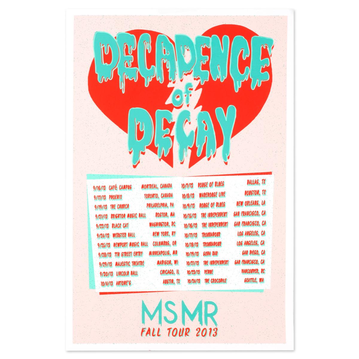MsMr Poster MsMr Fall Tour 2013
