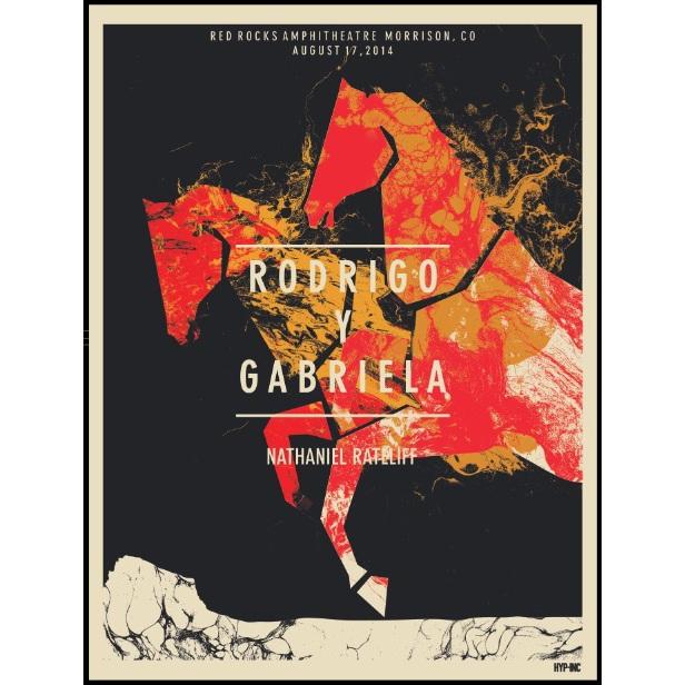 Rodrigo y Gabriela Red Rocks 2014 Poster