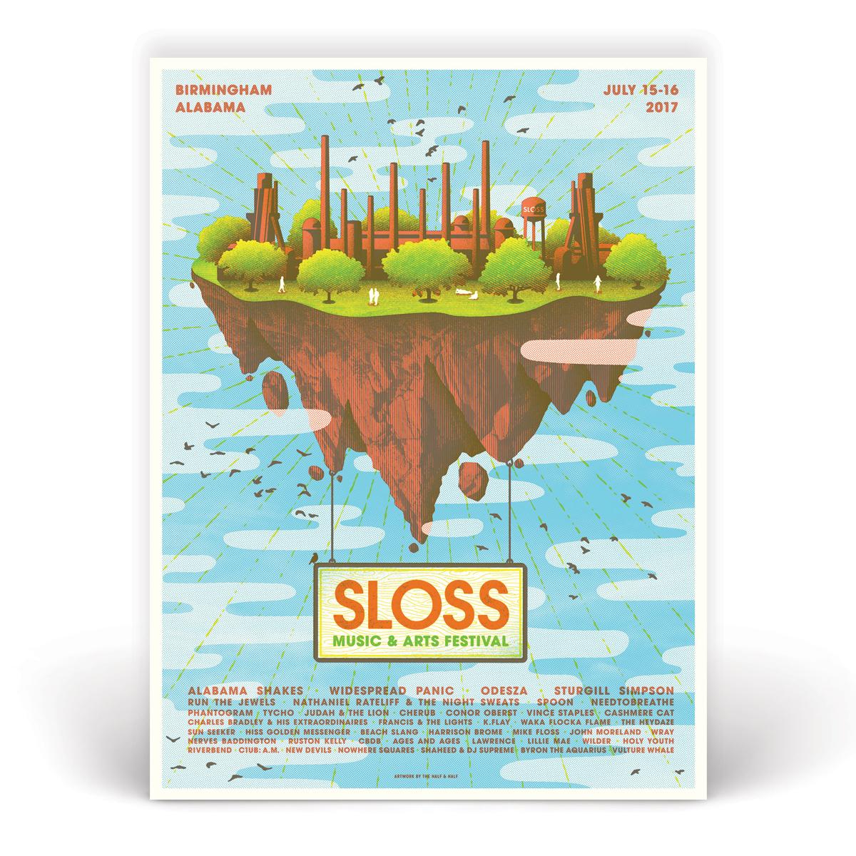 Sloss Music & Arts Festival 2017 Poster