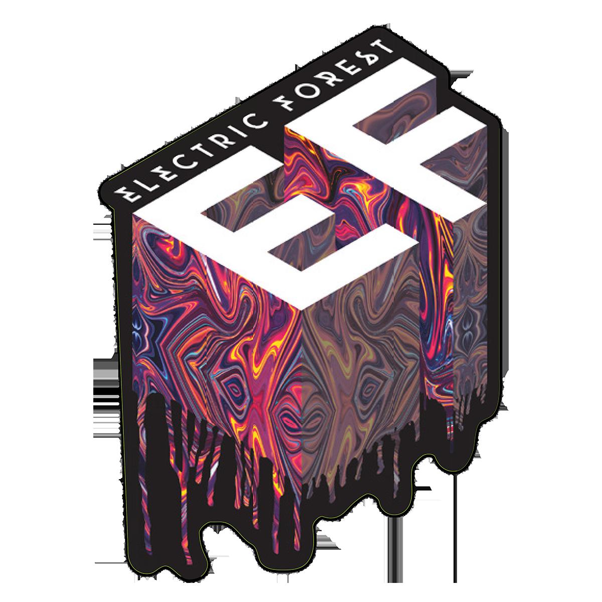 Electric Forest Acid Drip Sticker