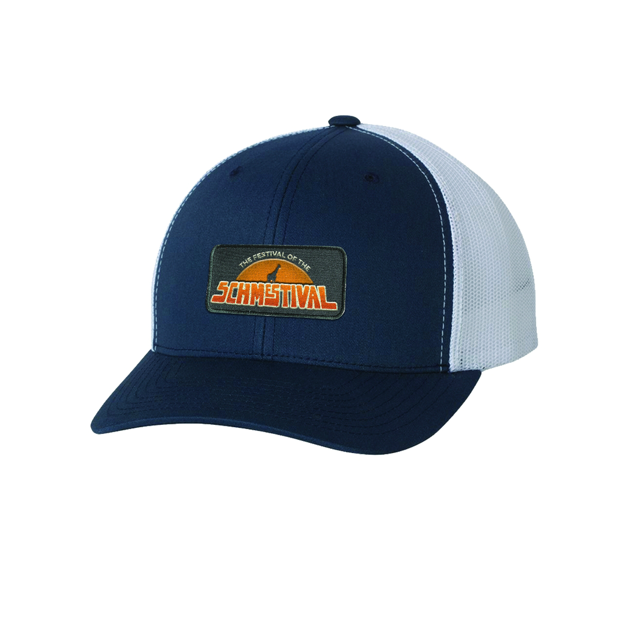 Schmestival Logo Trucker Hat Navy/White