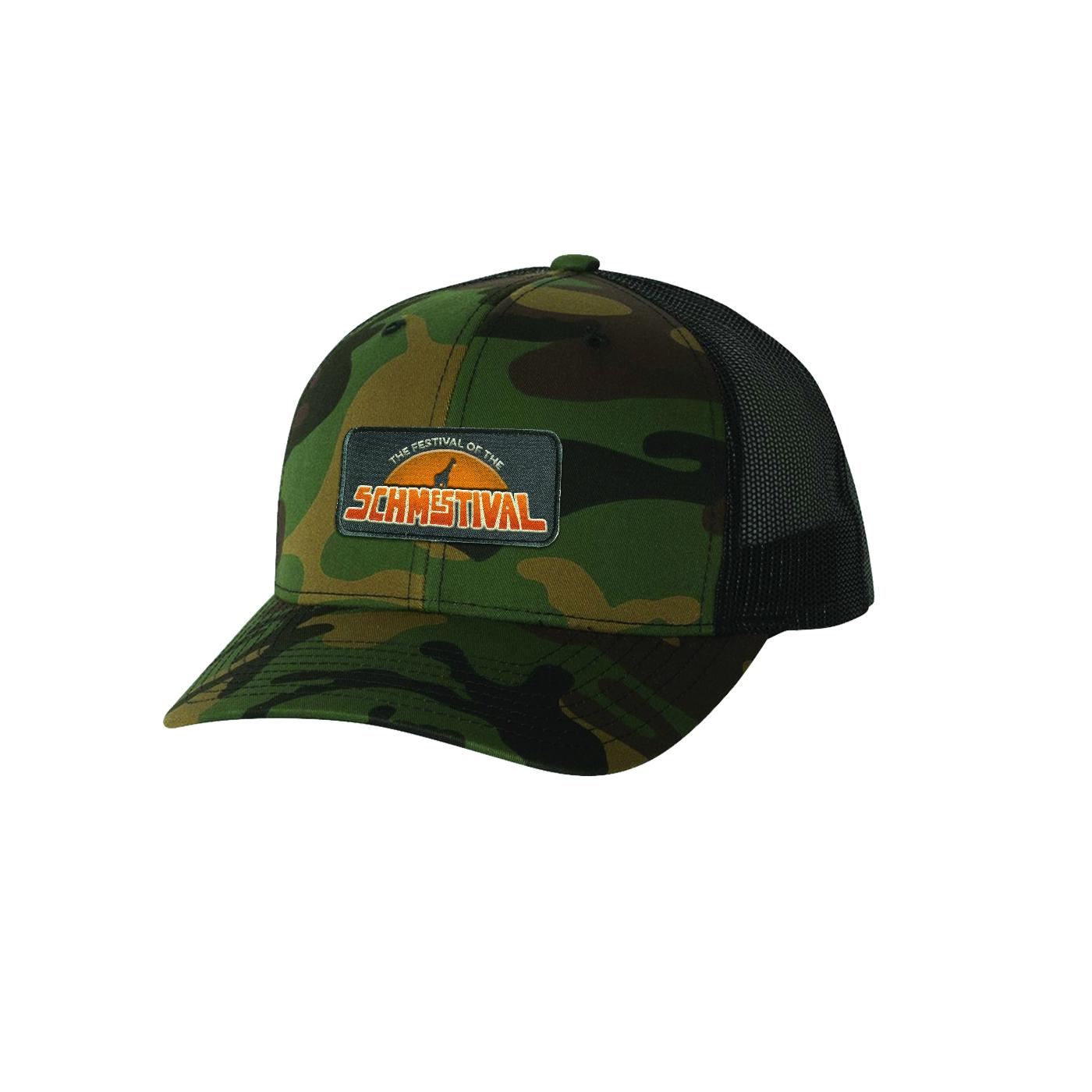 Schmestival Logo Trucker Hat Green Camo/Black