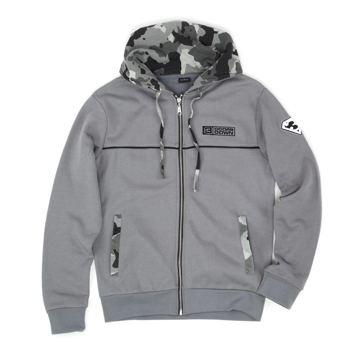 3 Doors Down Grey Hooded Sweat