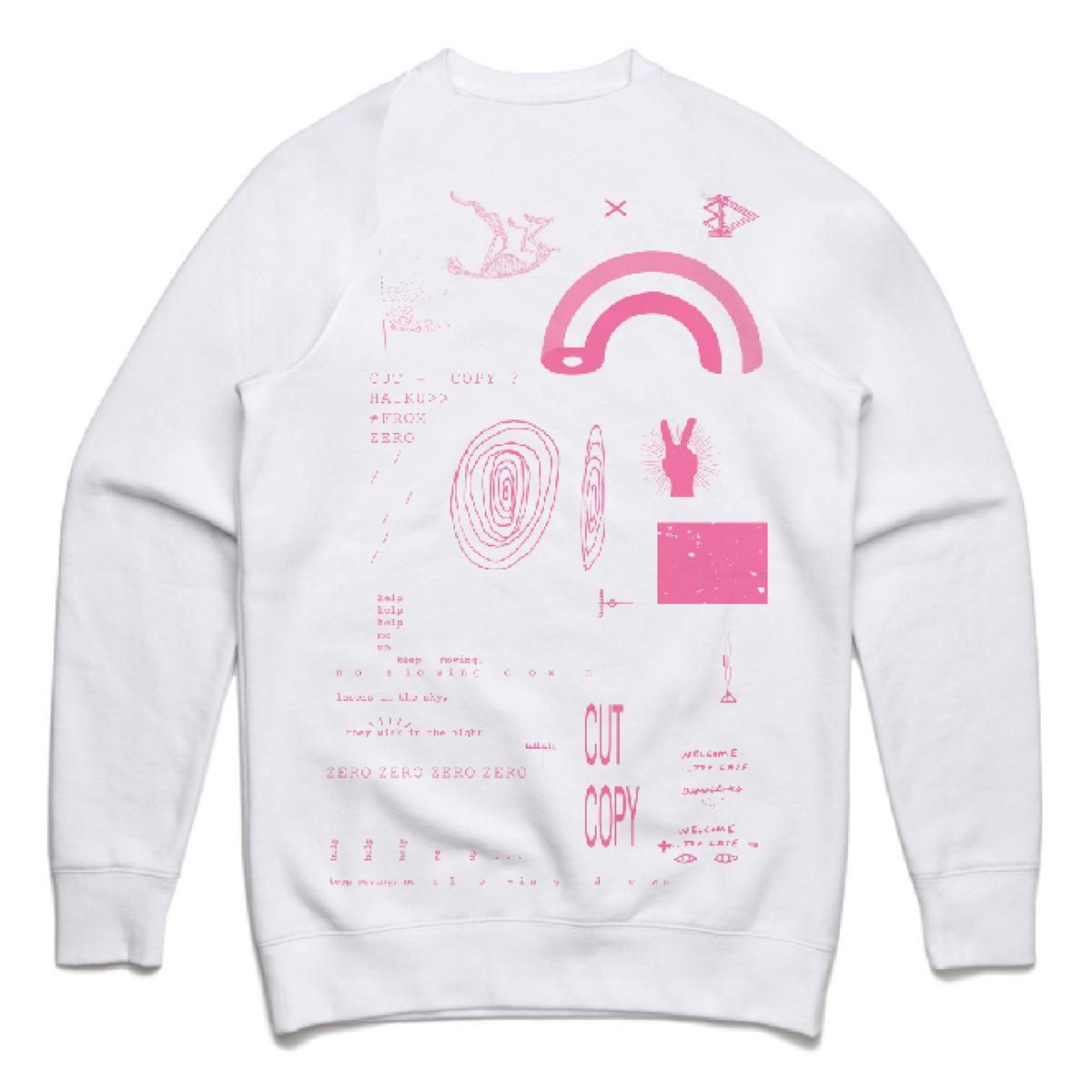 Cut Copy Haiku From Zero White Sweatshirt
