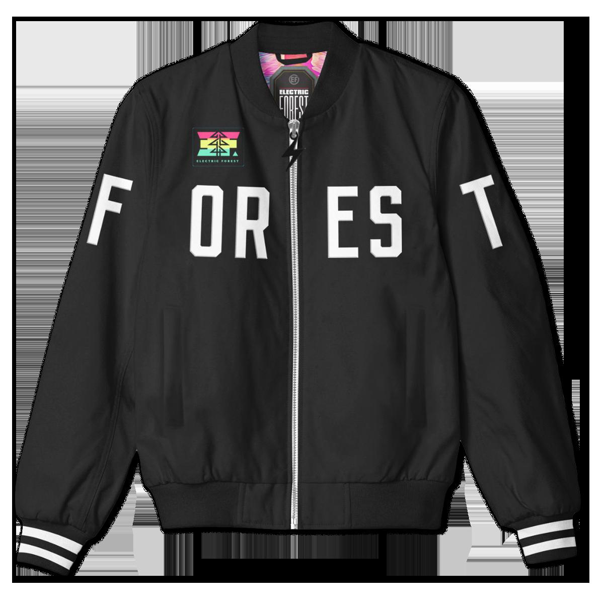 Custom Forest Bomber Jacket - Holiday Edition
