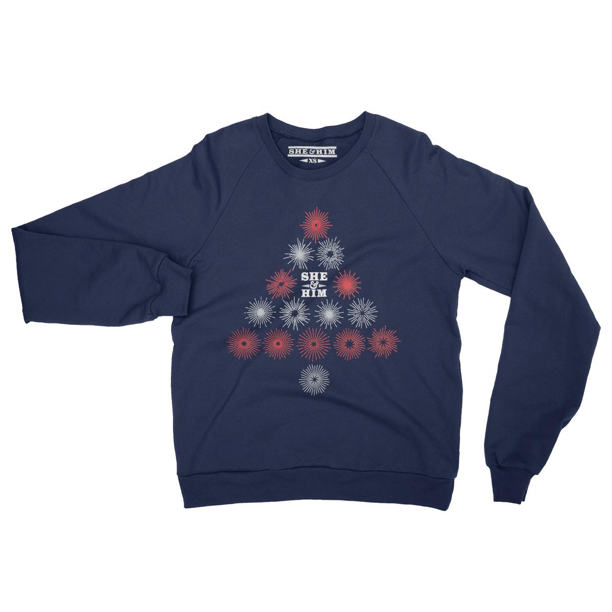 She & Him Christmas Unisex Crewneck Sweatshirt