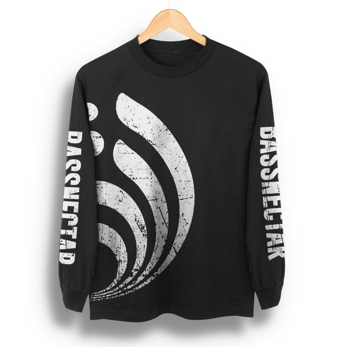 Distressed Big Logo Long Sleeve T-Shirt