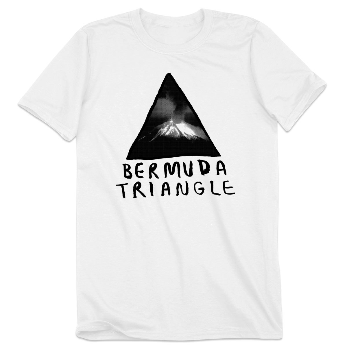 Bermuda Triangle Volcano Logo Tee