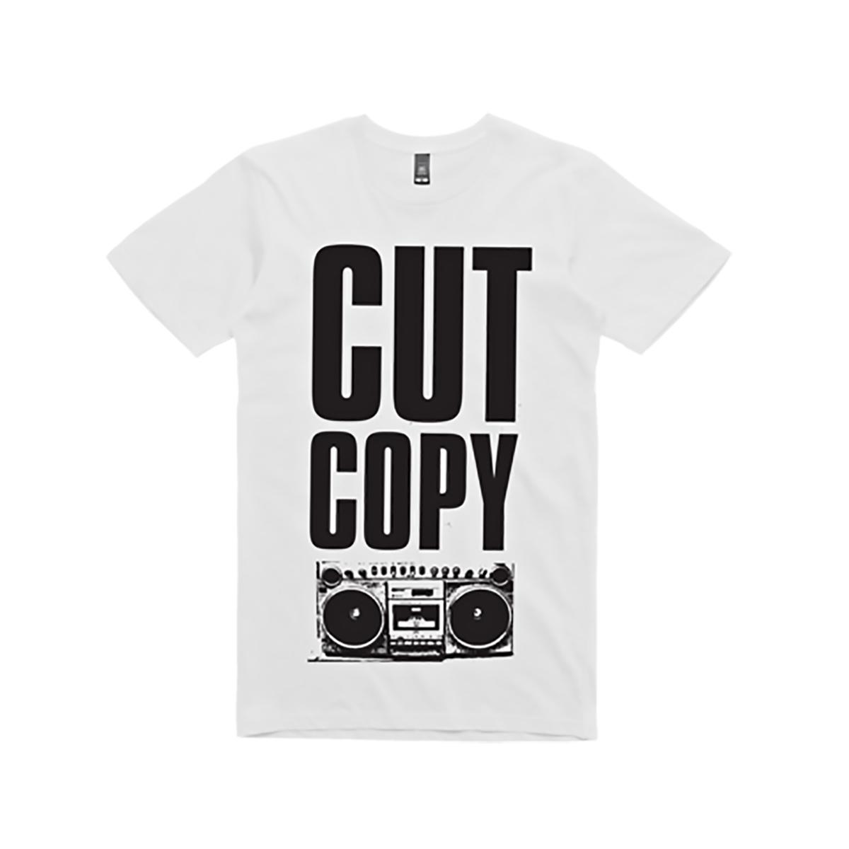 Cut Copy Boom Box T-Shirt - White