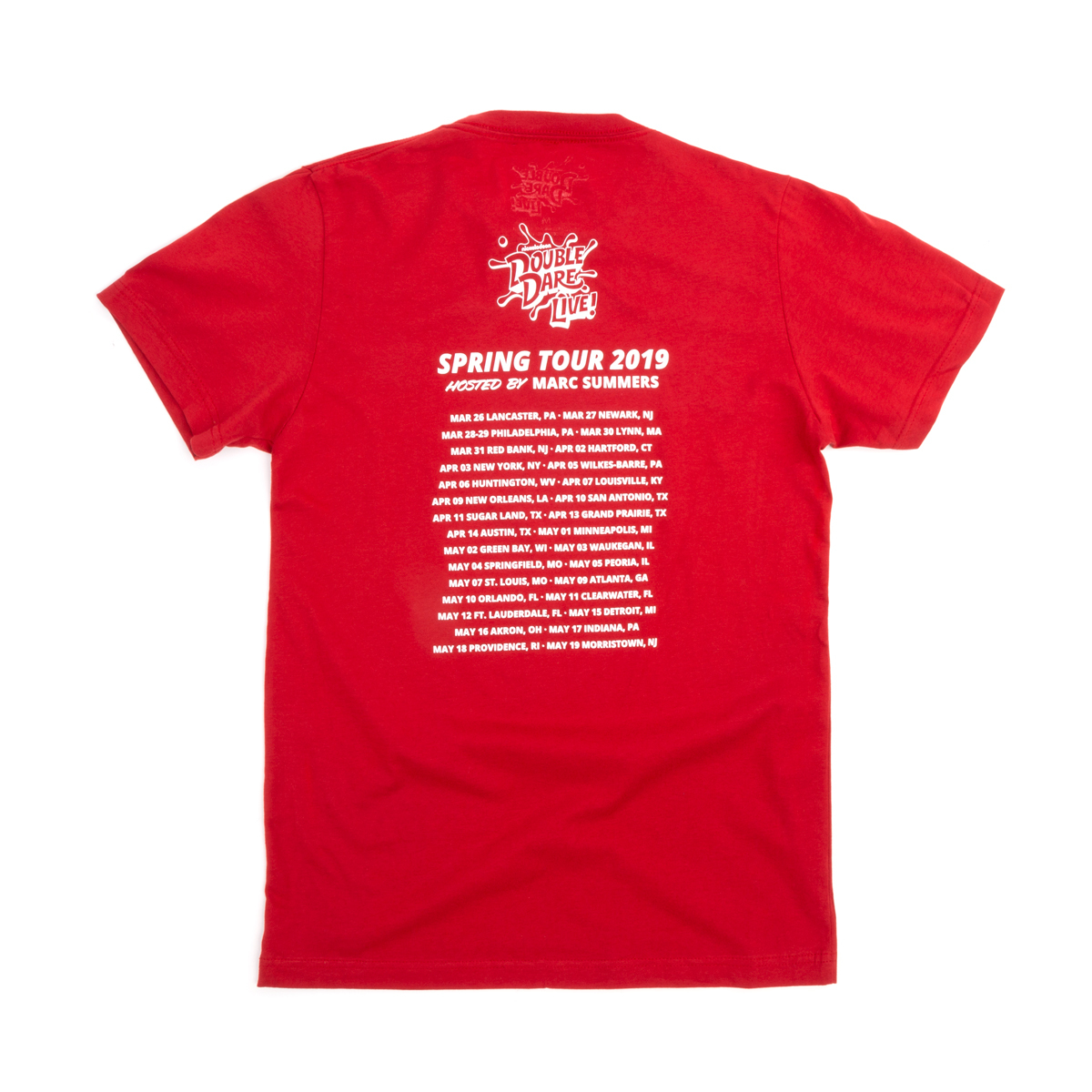 Double Dare Live 2019 Tour Tee - Red