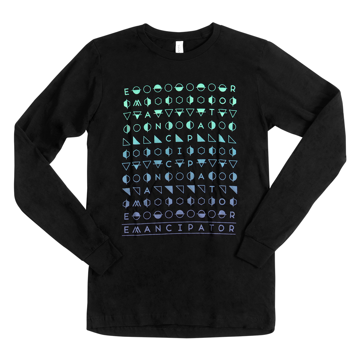 Multicolor Hieroglyphics Long Sleeve T-Shirt