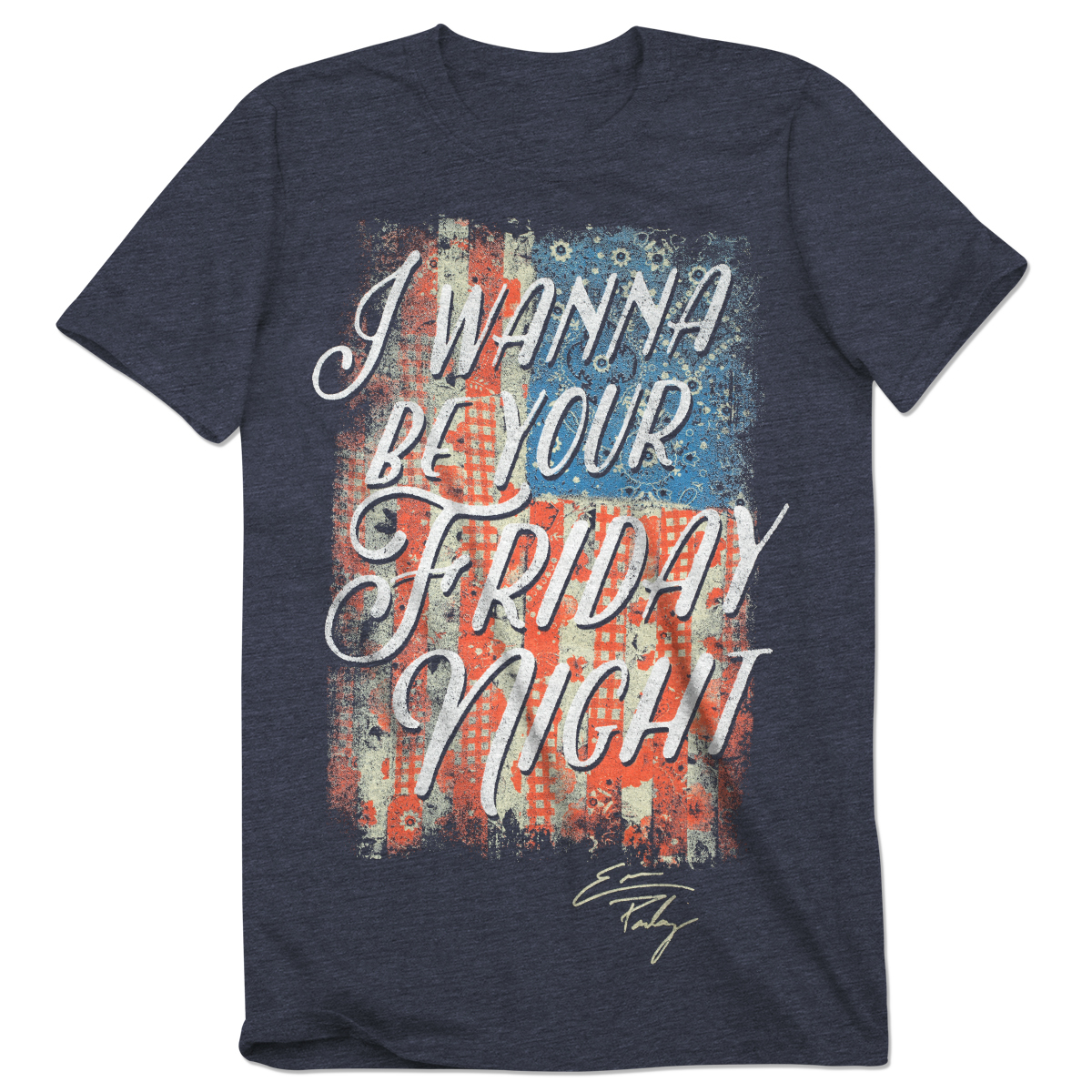 I Wanna Be Your Friday Night Ladies T-Shirt - Heather Blue