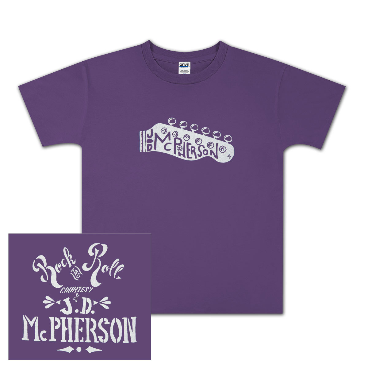 JD McPherson Rock and Roll Youth Tee - Purple