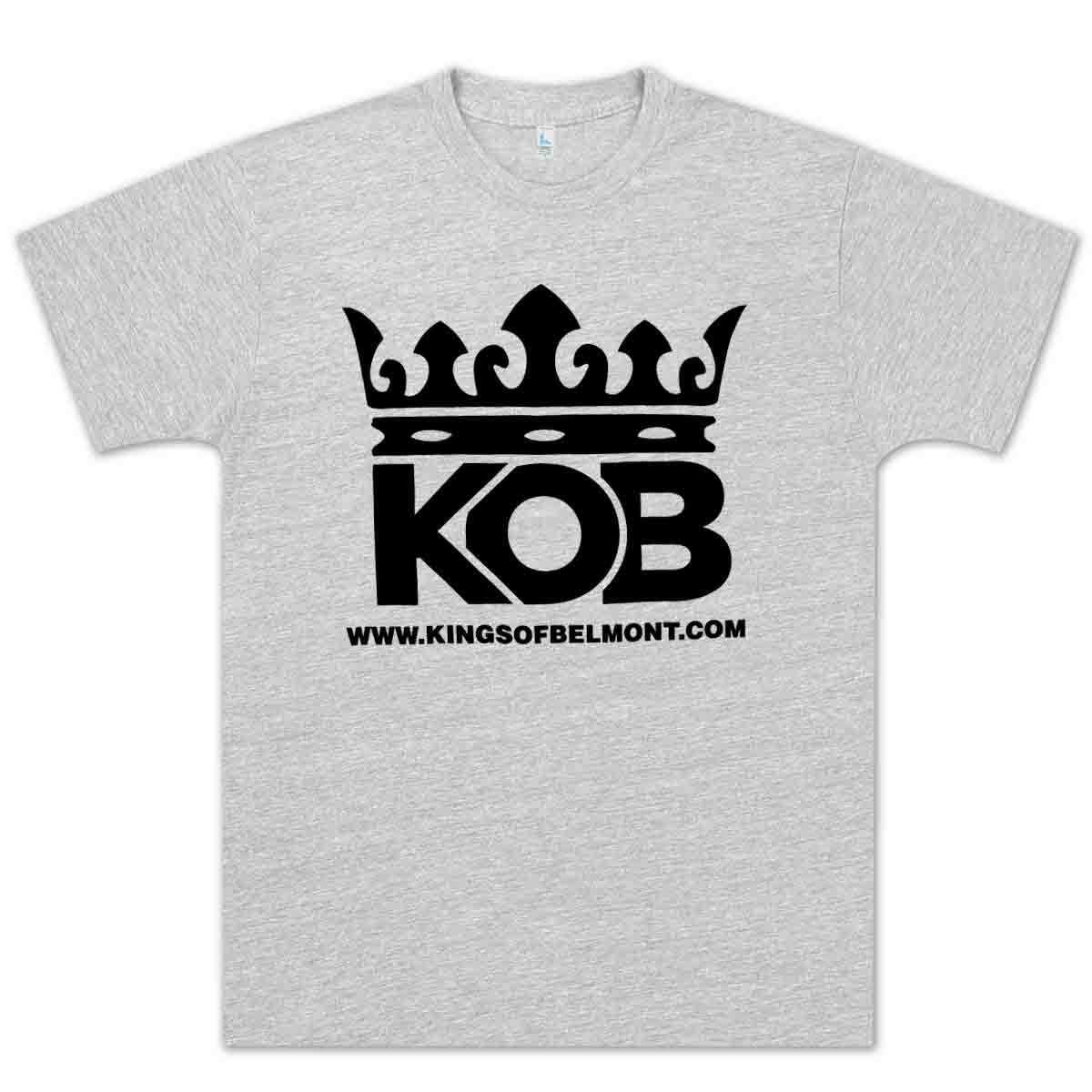 Kings of Belmont Logo Unisex T-Shirt - Heather Grey