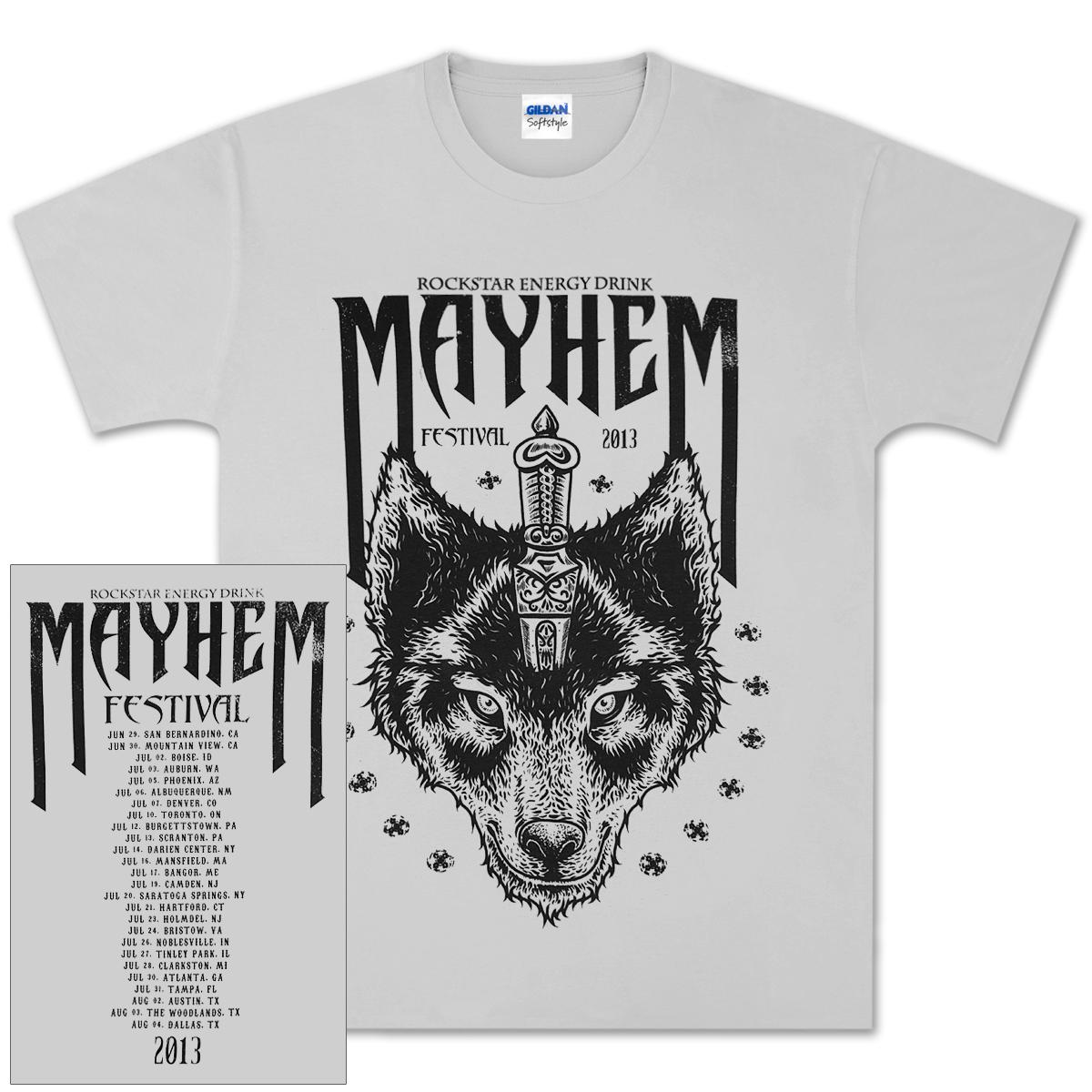 Mayhem 2013 Wolf T-Shirt