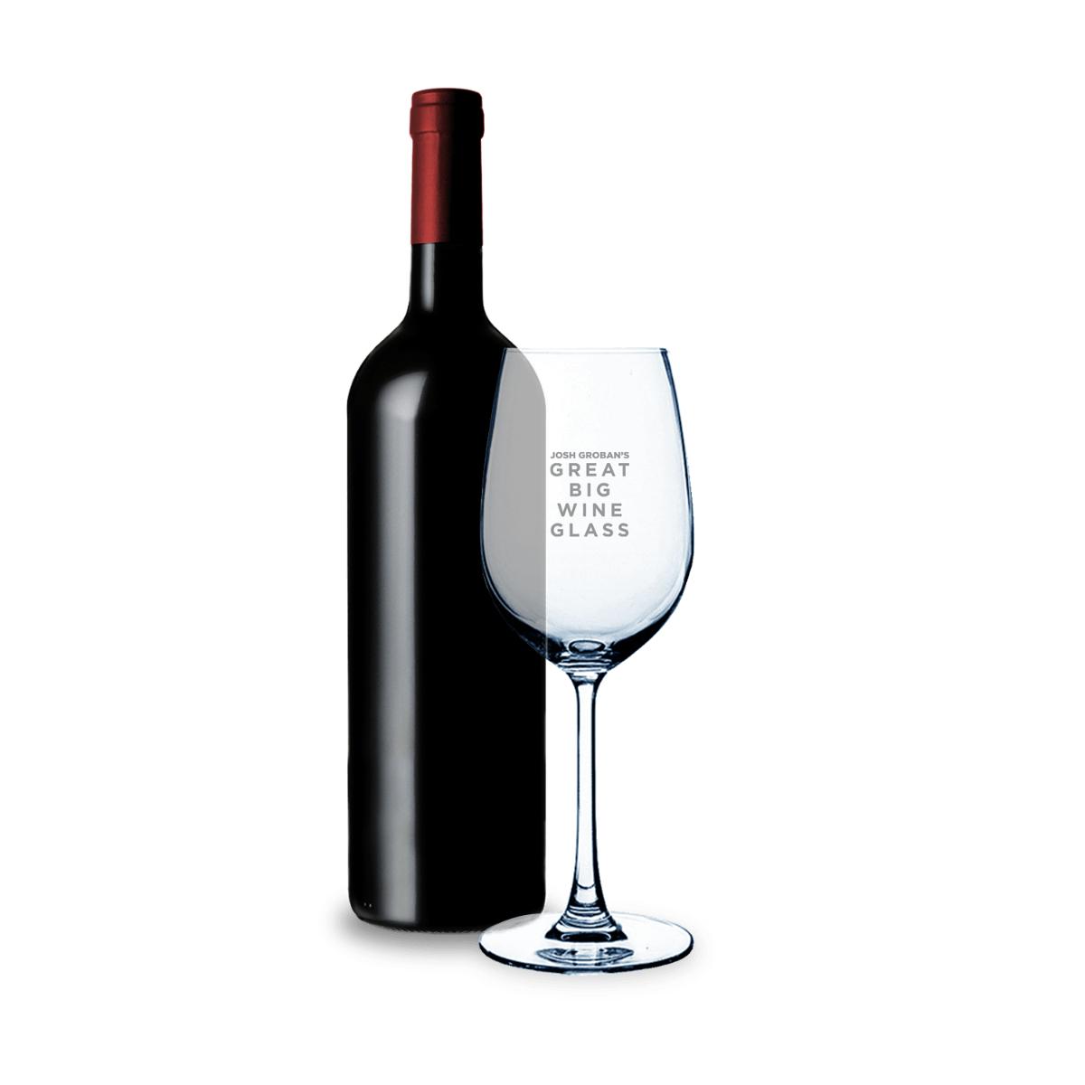 Josh Groban's Great Big Wine Glass
