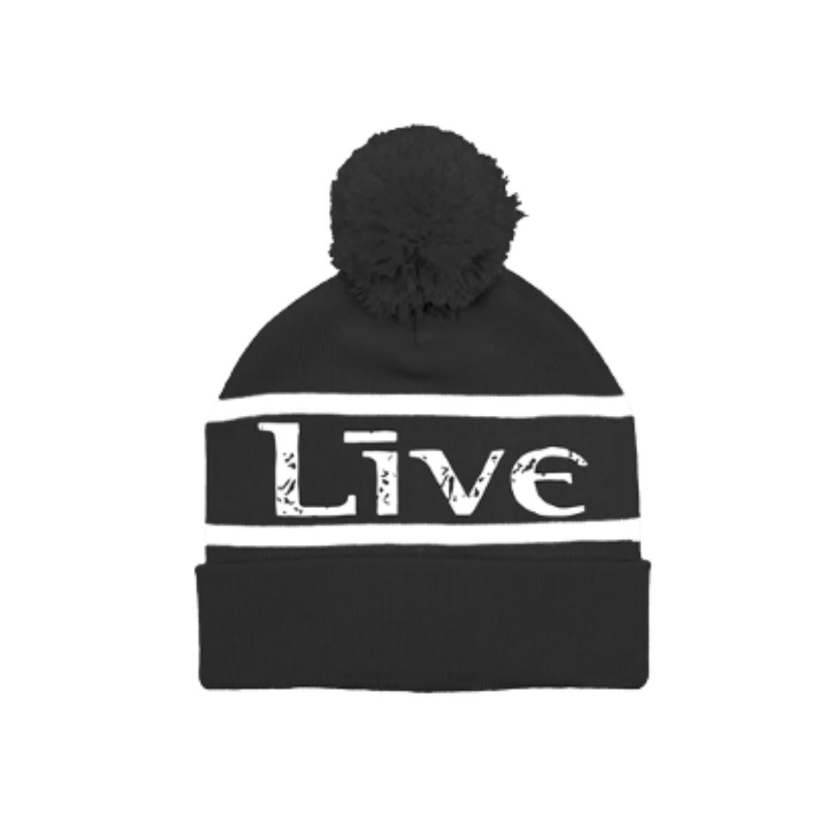 LIVE Black Pom Beanie