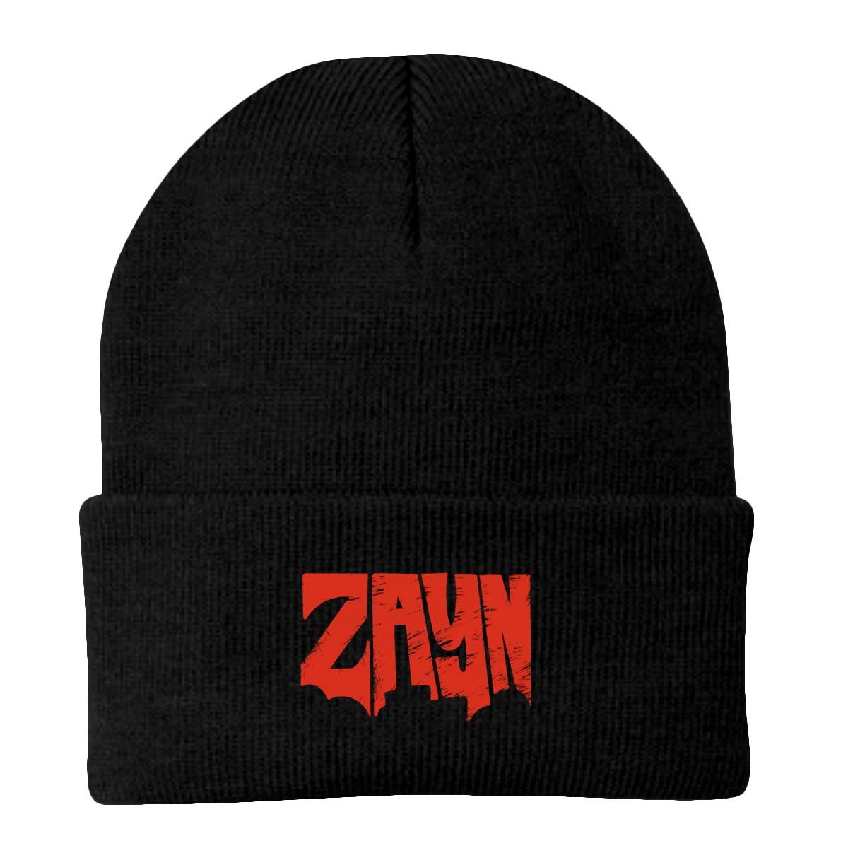 ZAYN Logo Embroidered Black Beanie