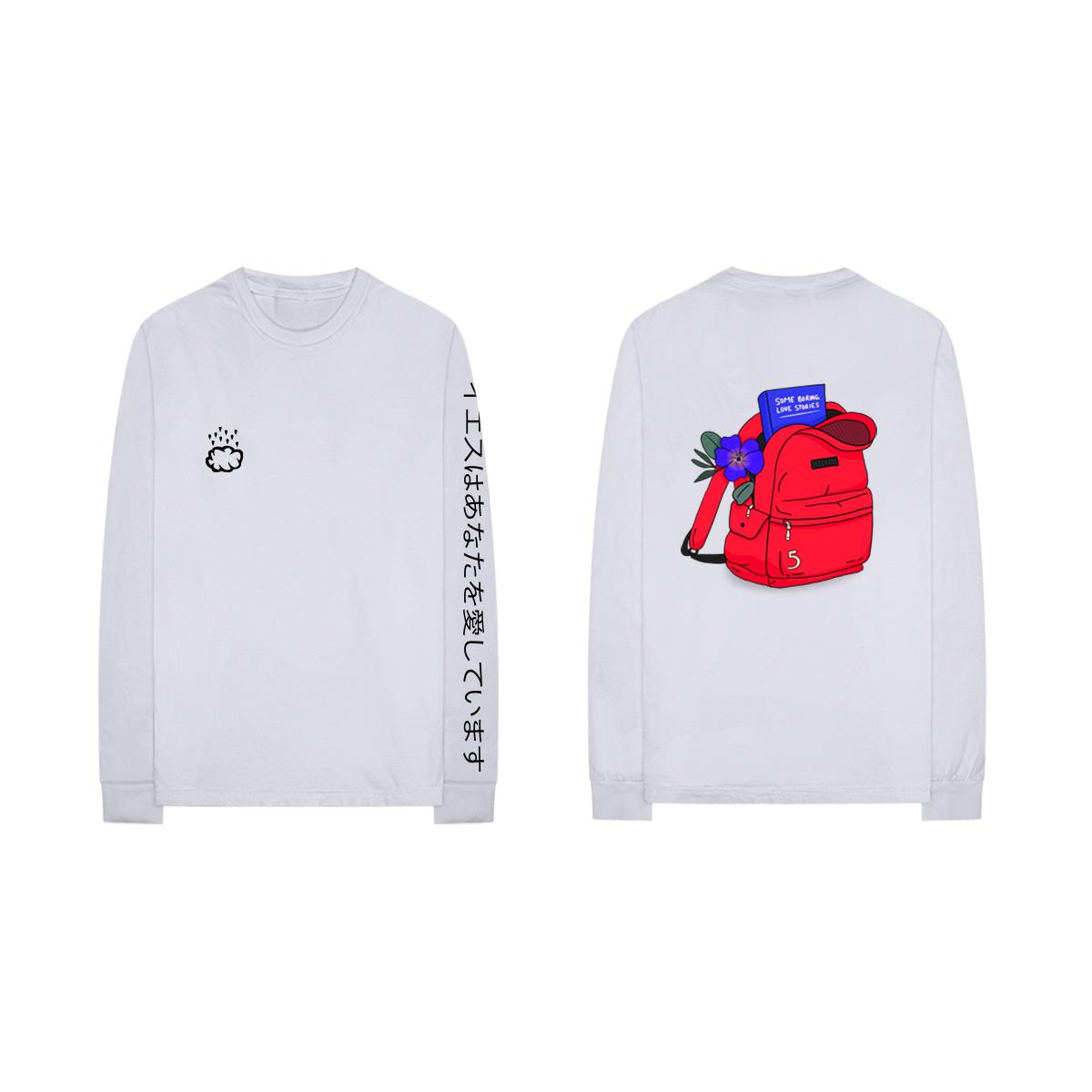 Powfu White Long-Sleeve T-Shirt