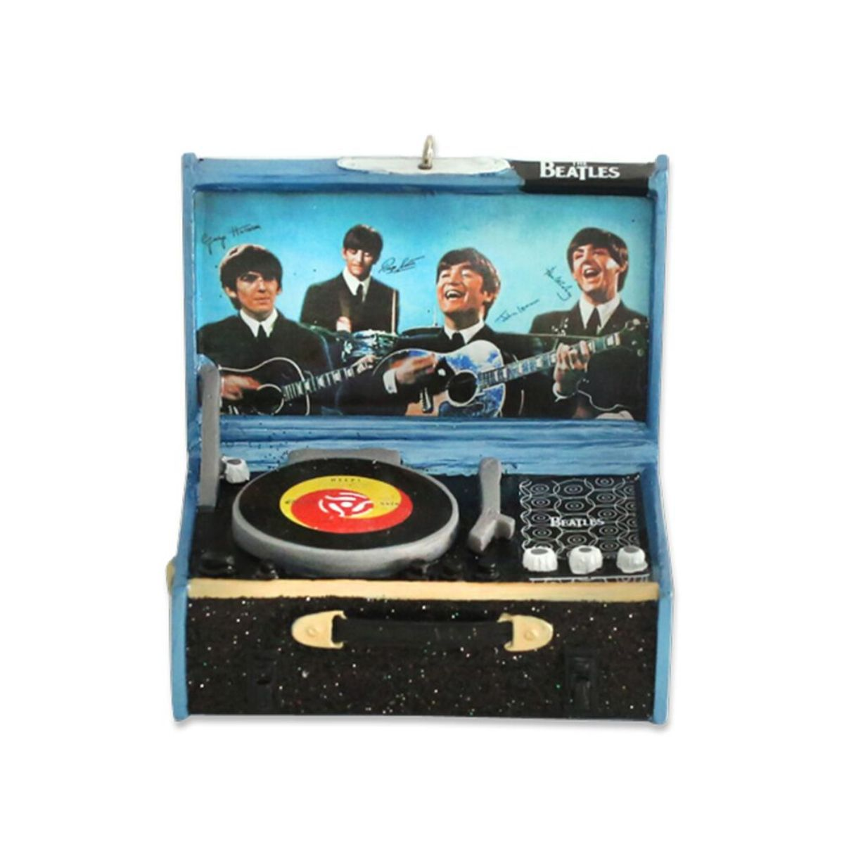 The Beatles Blue Record Player Ornament