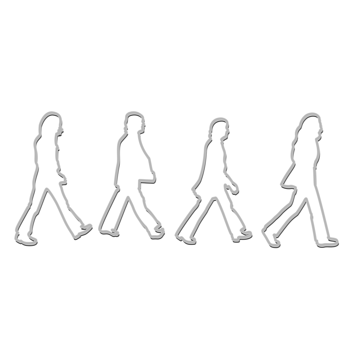 Abbey Road Cookie Cutters