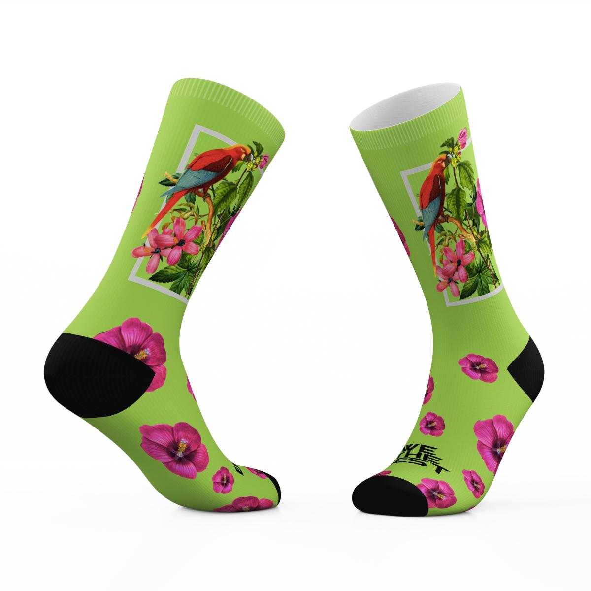 Green Parrot Tribe Socks